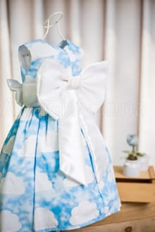 Vestido Infantil de Nuvem