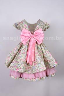 Vestido floral infantil baby lady