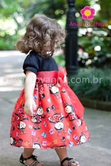 vestido joaninha para aniversário