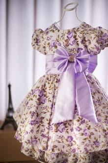 Vestido Infantil Floral Princesa
