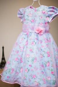 Vestido Infantil Princesa Floral Rosa