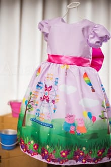 Vestido da Peppa Pig Rosa