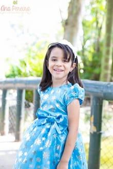 Vestido Elsa Frozen Pequena Princesa