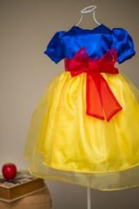 Vestido Infantil da Branca de Neve