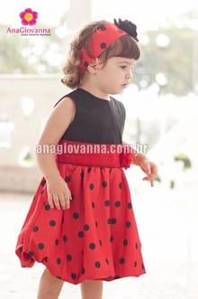 vestido joaninha bebe