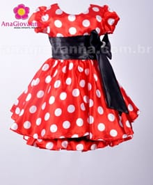 Vestido de Festa Infantil da Minnie