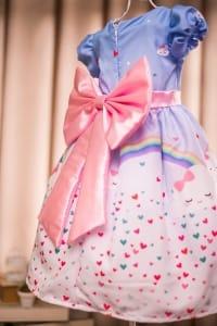 Vestido Infantil Tema Chuva de Amor
