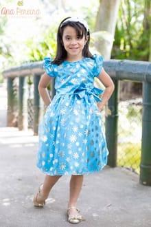 Vestido Infantil Frozen Pequena Princesa