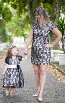 vestidos tal mãe tal filha de renda