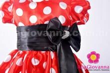 Vestido de festa infantil da Minnie detalhe