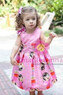 vestido infantil dora aventureira
