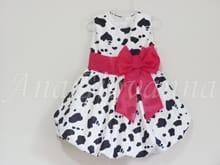 Vestido Infantil Fazendinha Rosa
