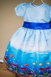 Vestido Infantil Tema Fundo do Mar
