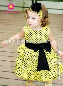 vestido de abelhinha