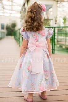 Vestido Infantil Tema Jardim Encantado