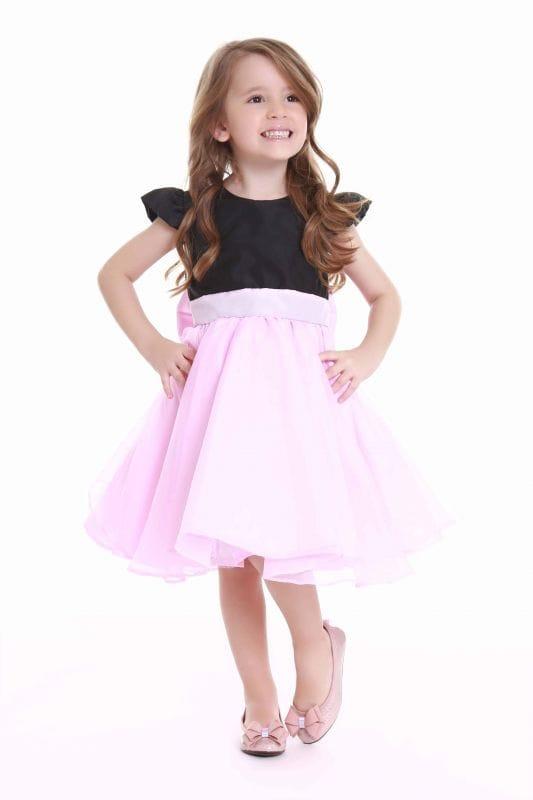 vestidos rosa e preto