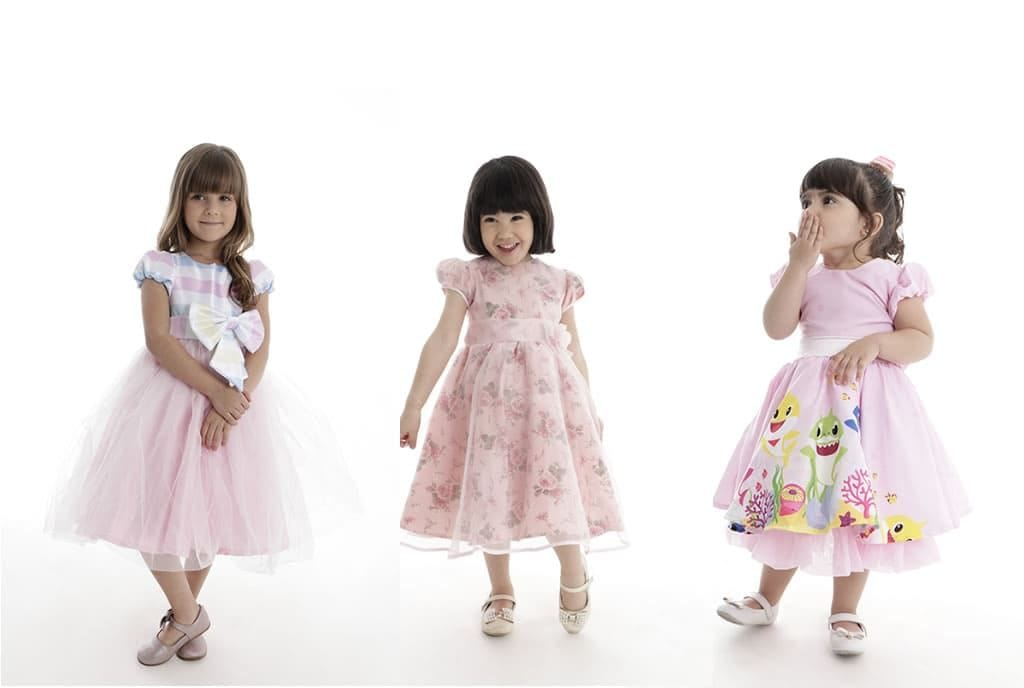 vestido de festa infantil para meninas